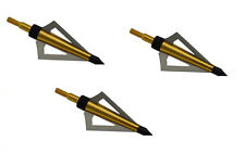 125 Grain Fixed blade Broadhead 3pcs/pack - For Crossbow and Compound Gold Color