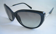 PRADA LADIES SUNGLASSES BLACK SILVER SPR 07O 1AB 3M1 BNWT GENUINE