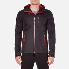 Superdry Mens Original Hooded Windtrekker Jacket Black/Red  XL