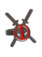 NEW! Officially Licensed Marvel Deadpool Swords Logo Ring Cosplay
