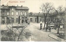 Sangerhausen, Bahnhof mit Litfaßsäule, alte Ansichtskarte von 1915