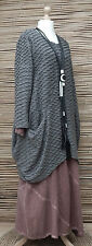 LAGENLOOK OVERSIZE*MB GERMANY*QUIRKY WAFFLE EFFECT TUNIC*GREY*Size 1  L-XL
