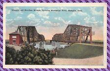 Carte Postale - Menphis and Harrihan Bridges, Spanning Mississippi River,