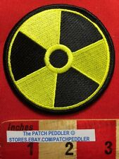 Atomic Nuclear Bomb Warning Symbol Patch Yellow & Black Parche For Jacket 5D7