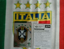 Album Germany 2006 SCUDETTO BRASILE AGGIORNAMENTO panini  FIGURINA LAMINATA RARE