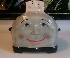 CLAY ART SAN FRANCISCO, CA 1995 HAND PAINTED TOASTER COOKIE JAR