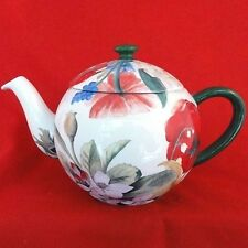 "VOLUPTE by Gien Tea Pot 6"" tall NEW NEVER USED Porcelain made in France"