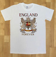 Mens England Forever Two Lions Shield,T-Shirt Novelty  print