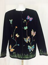Allure Butterfly Jacket With Murano Glass Buttons. Women's. Small. Perfect.