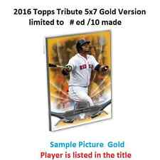 PAUL MOLITOR #21 BREWERS HOF MVP 2016 Topps Tribute 5X7 Gold Version #ed/10 Made