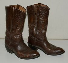 Nice Vintage Leather Brown Red Wing Shoes Cowboy Boots Size 7D Good Year Soles
