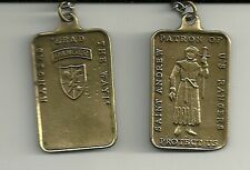SAINT ANDREW PATRON OF ARMY RANGERS  PENDANT DOG TAG WITH CHAIN