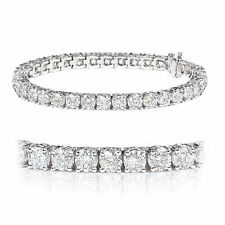 Christmas Special ..!! 3.00Ct Claw Set Round Diamond Tennis Bracelet ,White Gold