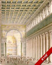 GERMAN CHRISTIAN ARCHITECTURE BERLIN CATHEDRAL PAINTING ART REAL CANVAS PRINT