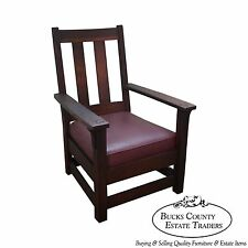 Limbert Antique Mission Oak Lounge Arm Chair
