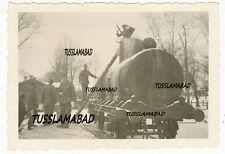 Tras salida Briansk tren edad vagón ferroviario tecnología Wehrmacht foto 2 WK