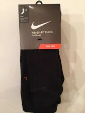 Nike 3 Pack Dri Fit Black Crew Socks Men Size 8-12 SX4827-001