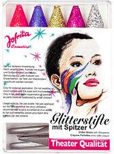 Glitter Schmink Stifte mit Anspitzer NEU - Styling Schminke Karneval Fasching