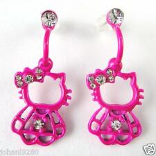Hello Kitty oorhangers oorbellen oorringen rose