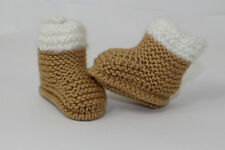 KNITTING INSTRUCTIONS- CHUNKY BABY FUR TOP BOOTIES  SHOES BOOTS KNITTING PATTERN