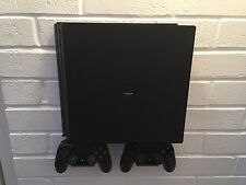 PS4 PRO Wall Mount Bracket Kit In Black Inc. Brackets For Controllers UK Made