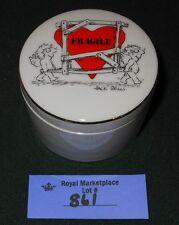 Vintage PORCELAIN Trinket BOX Designers Collection FRAGILE HEART
