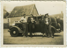 PHOTO ANCIENNE - GROUPE VOITURE TRACTION - CAR FAMILY - Vintage Snapshot