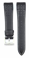 Compatible Seiko Sportura SNAE79P1 21mm Black Genuine Leather Watch Strap SKO110