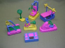 Dollhouse Exercise Room Equipment, 7 Pieces, Get your Doll House People in Shape