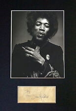 JIMI HENDRIX Signed Mounted Autograph Photo Print (A4) No59