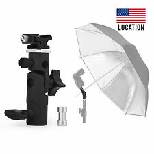 E Type Metal Flash Bracket Umbrella Holder Hot Shoe Stand Mount for Yongnuo US