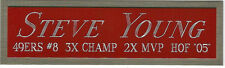 STEVE YOUNG NAMEPLATE FOR AUTOGRAPHED Signed Helmet Football JERSEY PHOTO CASE
