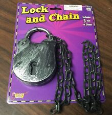 Halloween Plastic Lock And Chain Set Prop Prisoner Decoration