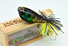 HAND MADE TOPWATER WOOD FISHING Premium Quality lure  Jumping Frog 5.5 cm. BASS