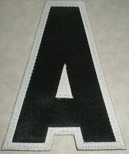 """EMBROIDERED EDGE IRON-ON CREST PATCH ASSISTANT CAPTAIN  LETTER A 4-3/8 X 3"""" NEW"""