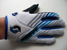NEW KIDS SCOTT BLUE WHITE MOTOCROSS MTB BMX GLOVES Sz LARGE AGE 5-7 YZ PW LT PIT