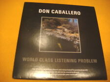 Cardsleeve Full CD DON CABALLERO World Class Listening Problem PROMO 10TR 2006