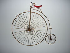 Vintage Mid Century Modern Original Signed C. Jere Wall Art High Wheel Bicycle