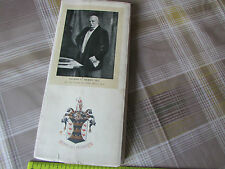 PRUDENTIAL Assurance Co 1912 Original ANNUAL Dinner Programme QUEENS Hall