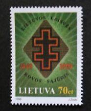 50th anniversaire de l'établissement de lituaniens liberté lutte mouvement timbre neuf sans charnière