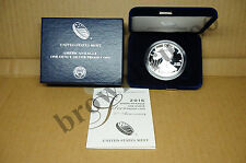 2016 W American Eagle SILVER PROOF 1 oz 30th Anniversary Edged Lettering BOX COA