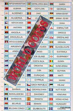 Multi Colour Offset Printed Coin Folder Stickers, Country Name with flags,