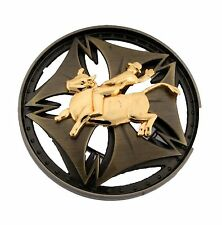 COWBOY BULL RIDER TEXAS WESTERN SPINNER BELT BUCKLE MEN KIDS YOUTH WOMEN RIMS