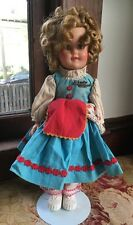 "Ideal Toy Corp 1950's Shirley Temple Doll 15"" Little Bo Peep Fairyland Series"