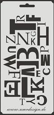 Scrapbooking Schablone S-159  Buchstaben ~ Stencil ~ UMR-Design