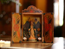 Painted Wood Retablo Andes Folk Art Handmade 'Virgin Mary' NOVICA Peru