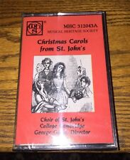 Christmas Carols From St. John's Choir Of St. John's College Camb Cassette New!