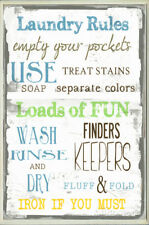 Laundry Room Typography Wall Plaque Wood Sign, 15x10