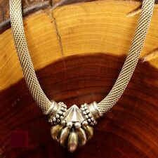 """SALE! Necklace Vintage 925 Sterling HEAVY ESPO HSN QVC Fluted Mesh Chain 48g 20"""""""