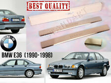 BMW E36 Stainless Steel Door Sill Entry Guard Covers Trim Protectors Chrome